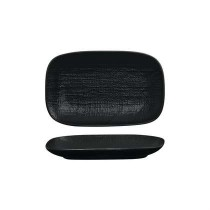 Luzerne Rectangular Share Platter Linen Black 215mm