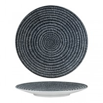 Luzerne Zen Round Coupe Plate 235mm Black Storm
