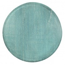 Mangowood Serving Board Round 300 x 15mm Aqua (6)
