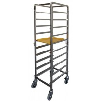 Mantova 0281 Breakfast Tray Trolley S/S 10 Tray