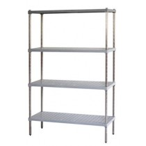 Mantova M-SPAN 5 Tier Shelving S/S Post Style