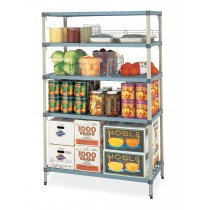 Metromax Q Shelving 4 Tier With Polymer Shelves 1065mmW