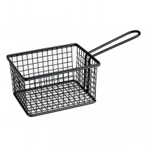 Mini Fry/Service Basket Rectangle Black 142 x 114 x 80mm (12)