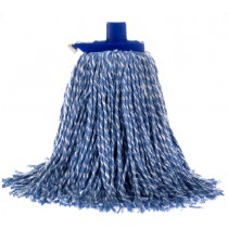 Mop Premium Commercial With Plastic Ferrule 400gm Blue