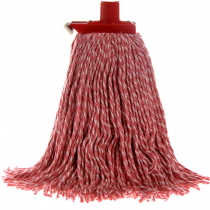 Mop Premium Commercial With Plastic Ferrule 400gm Red