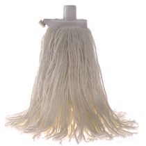 Mop Premium Commercial With Plastic Ferrule 400gm White
