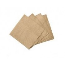 Kraft Brown 1ply Lunch Napkin Qtr Fold 500/Pkt