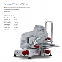 Image of Noaw NS300V Slicer Vertical 300mm Manual