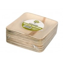 One Tree Palm Leaf Eco Plate Flat Square 200mm