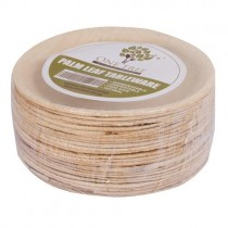 One Tree Palm Leaf Eco Plate Flat Round 150mm