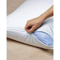 Pillow Protector PU Waterproof White W/Zip 73 x 48cm