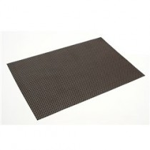 Placemat Connoisseur Woven PVC Black/Brown 455 x 305mm (12)