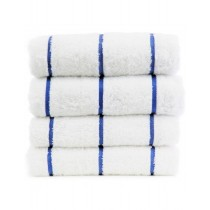 Pool Towel Royal Blue & White Horizontal Stripe