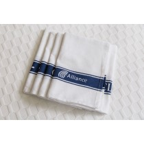 Alliance Tea Towel Cotton Navy Stripe Glass Cloth