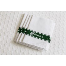 Alliance Tea Towel Cotton Green Stripe Glass Cloth