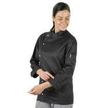 Prochef Chef Jacket Modern Tunic Long Sleeve Black