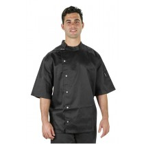 Prochef Chef Jacket Modern Tunic Short Sleeve Black