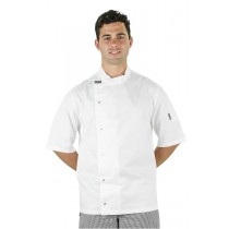 Prochef Chef Jacket Modern Tunic Short Sleeve White
