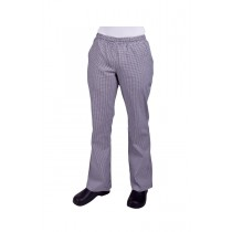 Prochef Chef Pants Ladies Draw String Size 10 Traditional Check (1)