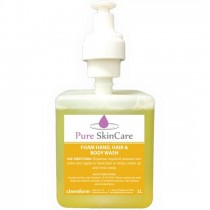 Pure Skin Soap Foam Hand Hair & Body Wash 1ltr 3/CTN