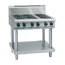 Image of Waldorf 800 Series RN8600E-LS Cooktop 6 Radiant Burner On Leg Stand Electric