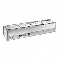 Roband BM14A Bain Marie Single Row With 1/2 Size Pans 100mmD & Lids