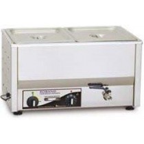 Image of Roband BM2A Bain Marie Countertop With Pans 100mmD & Lids