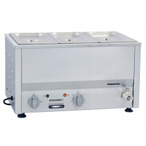 Image of Roband BM2B Bain Marie Countertop With 1/3 Size Pans 100mmD & Lids