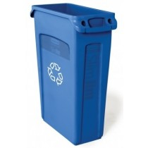 Rubbermaid Slim Jim Recycling Bin With Venting Channels Blue 87L 4/Ctn