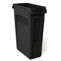 Rubbermaid Slim Jim Bin Black 87ltr