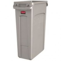 Rubbermaid Slim Jim Bin Grey 87ltr