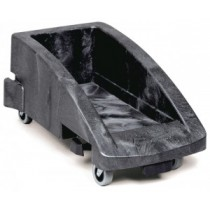 Rubbermaid Slim Jim Trolley Grey Suits 3540 & 3541 Containers (2/4)