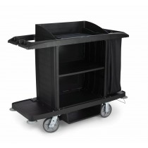 Rubbermaid X-tra Housekeeping Cart Black With Bag