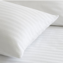 Image of Pillowcase Satin Stripe 20mm White
