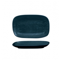 LUZERNE RECTANGULAR SHARE PLATTER LINEN NAVY BLUE 175MM