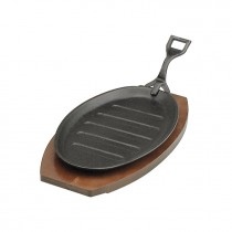 Steak Sizzler Cast Iron  Black Hammerstone W/Handle 290 x 180mm