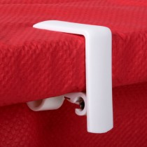 Tablecloth Clips Plastic White Spring Loaded 4/Pkt