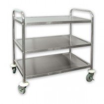 Trolley S/S H.D 3 Shelf 810 x 455 x 855mm