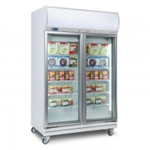 Bromic UF1000LF Upright Freezer With Light Box 2 Glass Doors