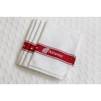 Image of Alliance Tea Towel Cotton Red Stripe Glass Cloth