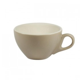 Brew Cappuccino Cup Harvest/White 220ml 6/Pkt