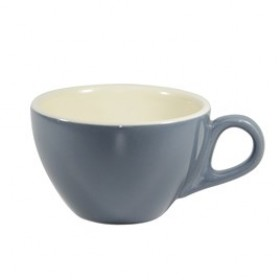 Brew Latte Cup 280ml Steel Blue/White 6/Pkt