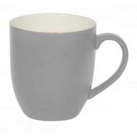 Brew Mug Silver Ice/White 380ml 6/Pkt