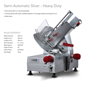 Noaw NS350HDS Slicer 350mm H.D. Semi Automatic
