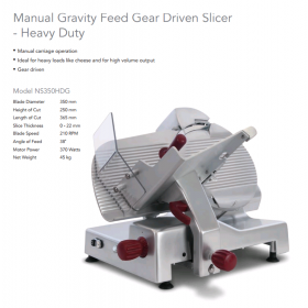 Noaw NS350HDG Slicer 350mm H.D. Gear Driven