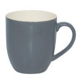 Brew Mug Steel Blue/White 380ml 6/Pkt