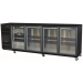HiscoNFE Skope Backbar BB780X 4SW U/Counter Fridge Integral Black 4 Swing Doors product image (hospitality supplies)